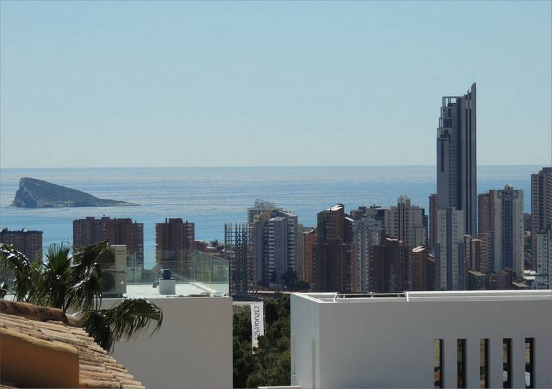 Sea views over Benidorm, Costa Blanca