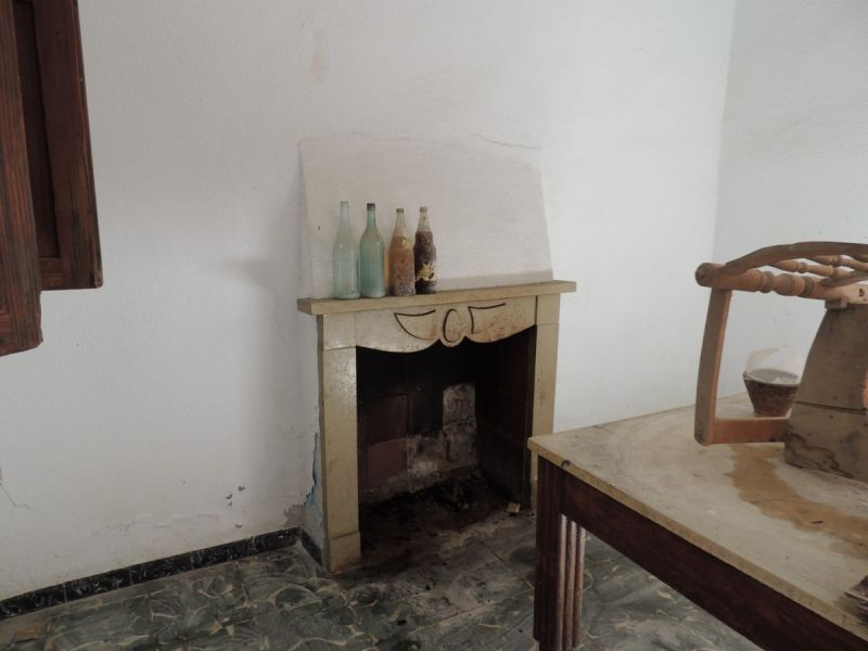 Sitting room with chimney